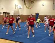 VIDEO: Cheerleaders take chance with 'catastrophic' danger