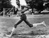 Wilt Chamberlain running high school track? Wilt Chamberlain running high school track!