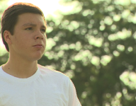 Local football player won't let cancer stop his game