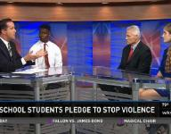 High school students pledge to stop violence