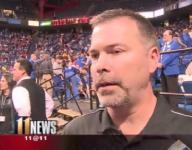 Farmer back in Rupp, talking before he reports to prison