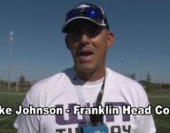Franklin Wildcats head coach Mike Johnson on the season thus far