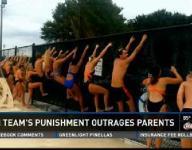 Pictures allege to show swim team punishment