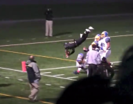 This Alaska RB just pulled off one of the most acrobatic TDs you'll ever see