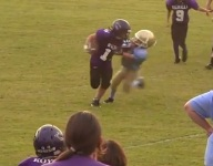 8-year-old QB makes up for stumbles with a stiff-arm for the ages