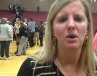 Holt volleyball coach Kellie Sweitzer