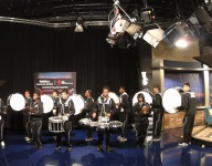 Montbello Drum Line joins 9News on Bleacher Report 12/20/14