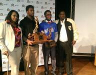 De'Andre Johnson presented with Mr. Football award