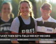 Video   Ky. teen sets field hockey record