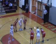 High school girl's missed free throw breaks the rim