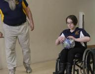 Bowling strikes from a wheelchair
