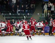 VIDEO: Minnesota high school hockey playoff game devolves into massive line brawl