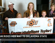 Taylor Hickam rides to Oklahoma State