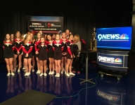 PHOTOS: Castle View coed cheer team on 9NEWS Bleacher Report