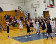 VIDEO: Middle school hoops squad loses game when would-be winning jumper gets stuck behind rim