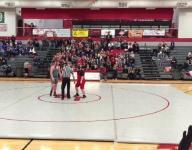 Wrestling fans cheer show of sportsmanship