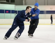 Pro figure skaters like Olympian Michael Weiss teaching skating for hockey players