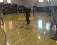 68-year-old Bob Hurley Sr. is still sweeping the high school gym during JV games