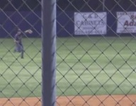VIDEO: Somehow, player takes deflected baseball off head to turn double play