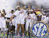 Gamecocks down Tennessee 62-46 to win SEC Tournament