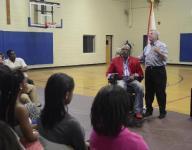 Mayor Strange speaks at YMCA event for state playoff teams