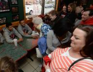 Red Devils fans rally as Mancino's hosts meet and greet