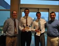 Yorktown football players honored