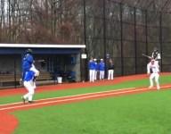 VIDEO: Connecticut baseball teams use rain delay for impromptu jousting tournament