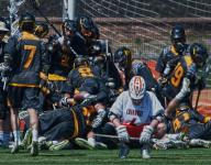 Moorestown's Snodgrass scores in the third overtime for a 10-9 win over Cherokee