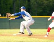 Bombers split league twinbill at Cabot