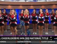 Chardon cheerleaders win third national title