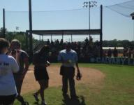 Calvary softball clinches state berth; coach gets dunked