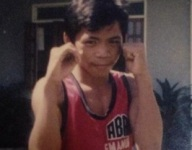 Look at 12-year-old Manny Pacquiao after his first amateur bout
