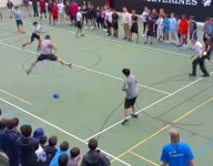 VIDEO: Witness double-split middle school dodgeball greatness