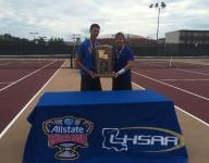 Evangel duo relishes third tennis state title