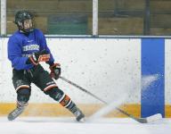Jake Tortora of Victor has several hockey options