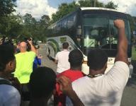 Trinity Christian Academy baseball team returns home