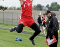Crawford wins 3 titles in first day of district meet