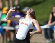 Gunnells caps career with second 3A shot put title