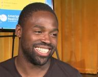 NFL wide receiver Torrey Smith imparts message during visit to Oxon Hill (Md.)