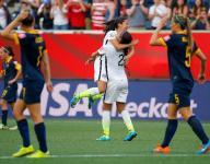 Rapinoe scores twice as U.S. wins opener over Australia
