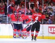 Toews, Saad score goals as Blackhawks tie series