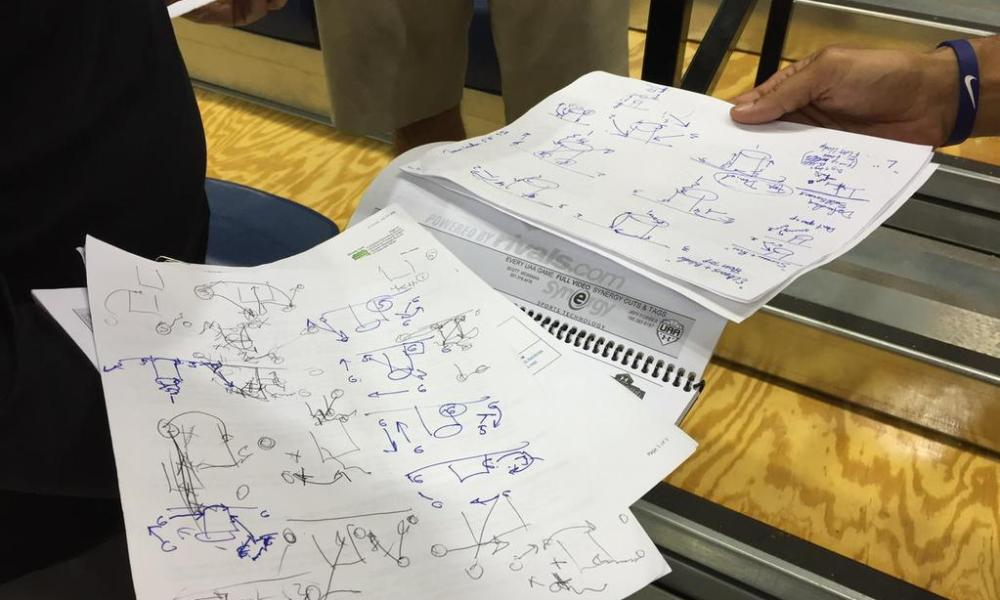 Larry Brown's recruiting tourney notebooks are still filled with play diagrams —Twitter