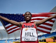 Asics is going all-in advertising former All-USA Athlete of the Year Candace Hill