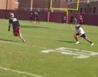 VIDEO: Florida State WR commit D.J. Matthews completely tore apart the secondary at the Jimbo Fisher Camp