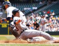 Marte hits 1st MLB homer, leads Tigers over Mariners