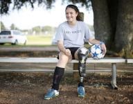 13-year-old soccer player overcomes left leg amputation