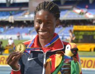 Candace Hill completes sprints sweep at World Youth Championships