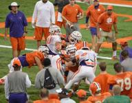Paw Drill sets tone for Tigers' physical practice