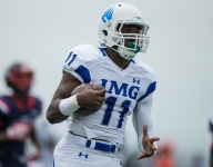 IMG Academy's uber-athletic Drake Davis gets his points across in more ways than one